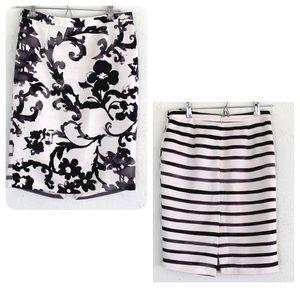 Moschino Cheap&Chic Dual print skirt